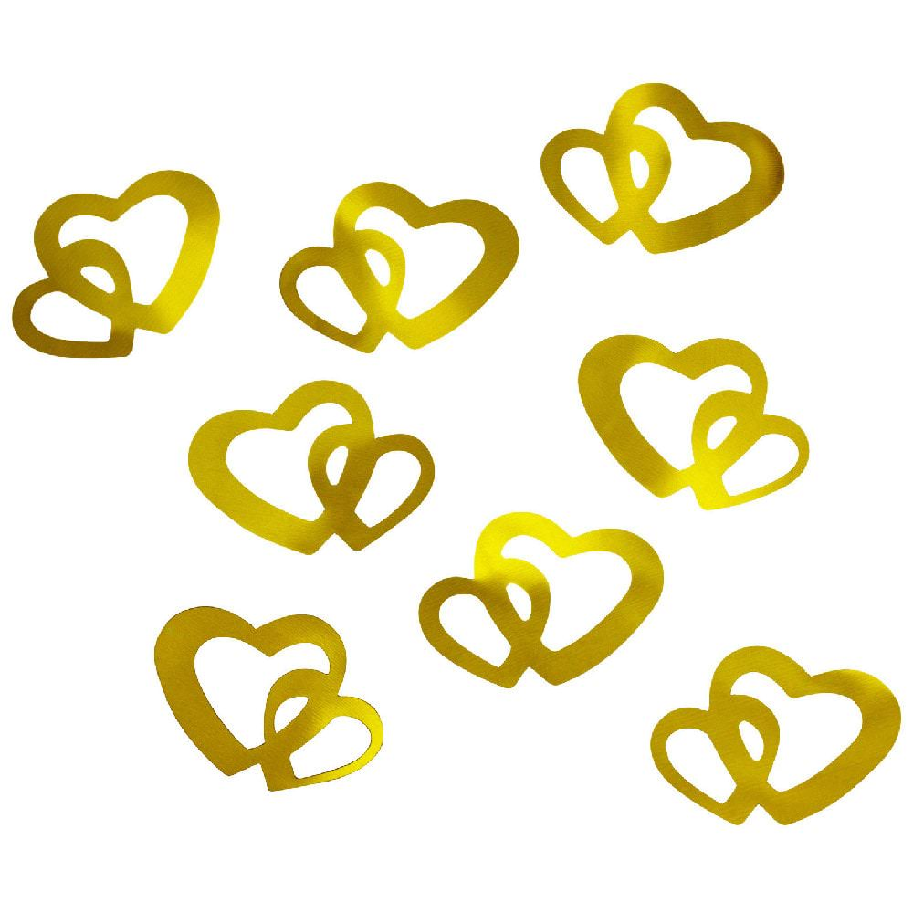 Herz konfetti tischdeko liebe romantik hochzeitsdeko gold for Hochzeitsdeko gold