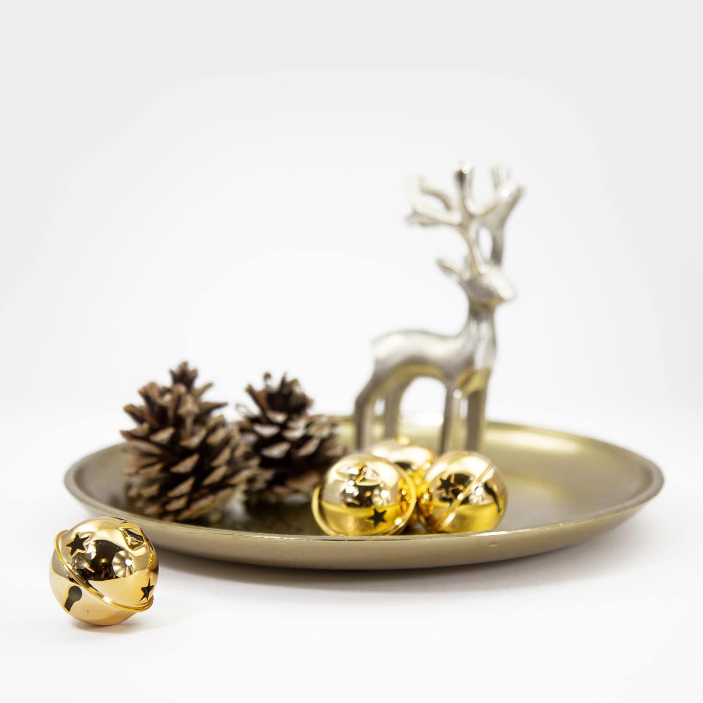 Weihnachtsdeko Gold.12 Weihnachtsglöckchen Tischdeko Weihnachtsbaum Weihnachtsdeko Gold