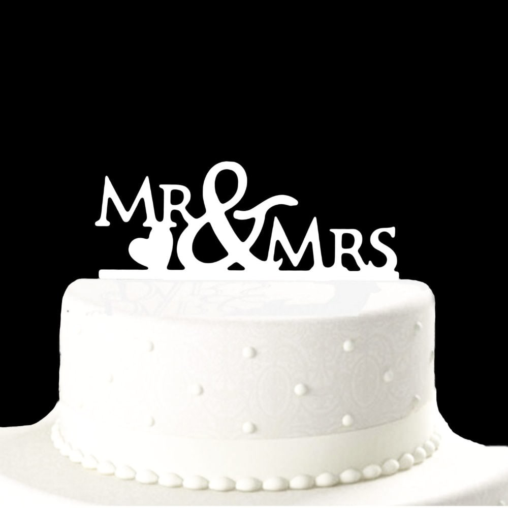 Hochzeitstorten Topper Mr Mrs Kuchendeckel Hochzeit Weiss