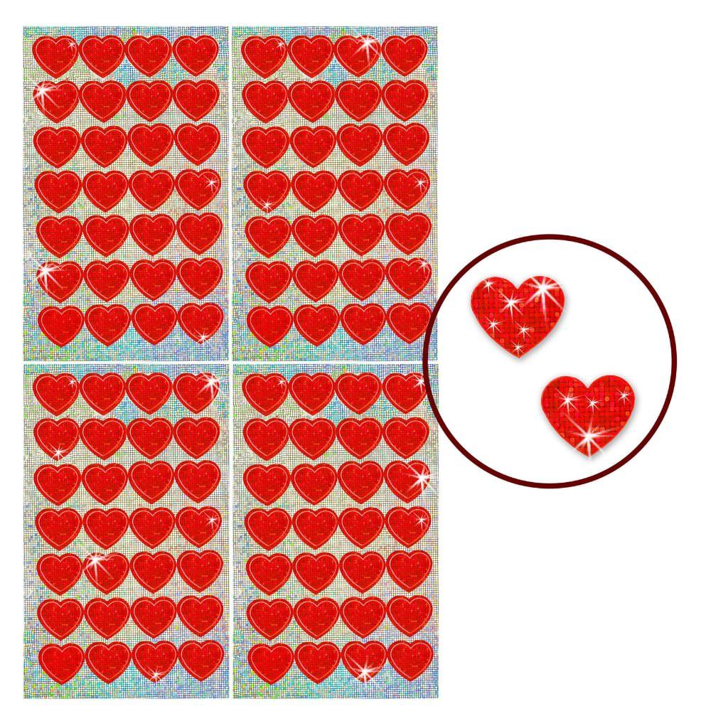 112 funkelnde glitzer herzen sticker kinder aufkleber rot. Black Bedroom Furniture Sets. Home Design Ideas