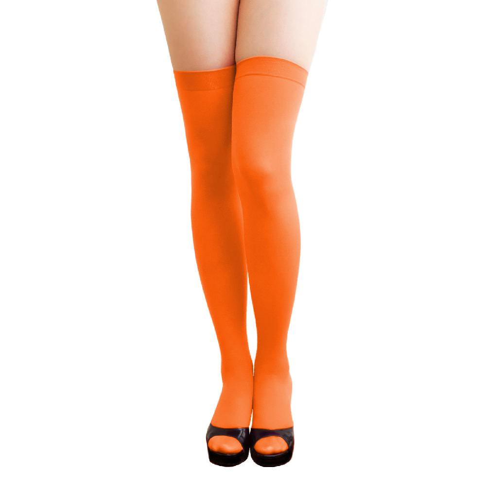 c998fc78c14f7d Overknee Strümpfe Sexy Strumpfhose halterlos Karneval Party - orange