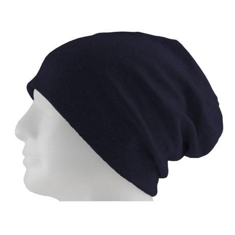 Long Beanie XXL Mütze Slouch Damen Herren Kinder Mütze - dark blue