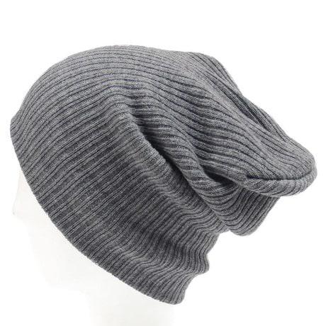 Long Beanie Mütze XXL Damen Herren Kinder Winter Mütze - grau