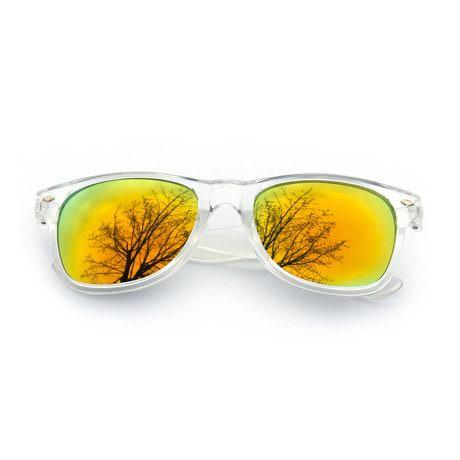 Nerdbrille Hornbrille 80s Retro Nerd Streber Sonnenbrille - gold