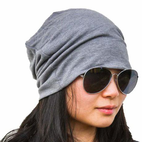 Long Beanie XXL Mütze Slouch Damen Herren Kinder Mütze - hell grau