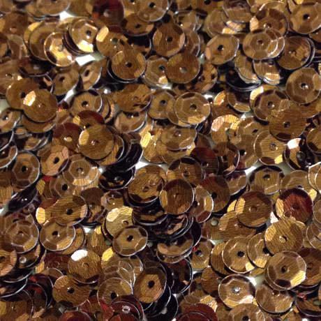 1400 Pailletten Konfetti gewölbt braun