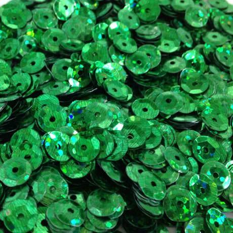 1400 Pailletten Konfetti gewölbt - grün Glitzereffekt