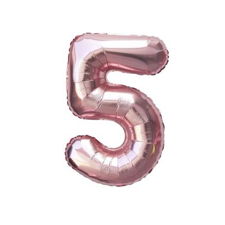1x Folien Luftballon mit Zahl 5 Geburtstag Jubiläum Party Deko Ballon
