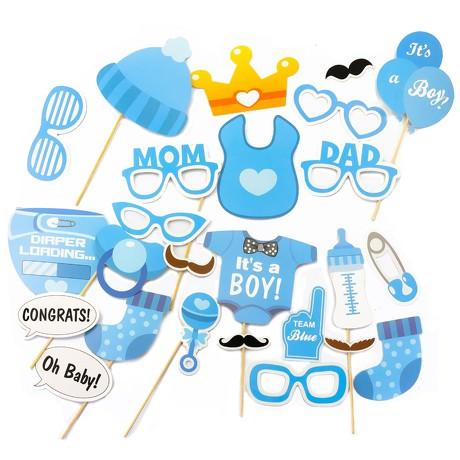 25 Fotorequisiten Fotoaccessoires Baby Shower Party Neugeborene Junge