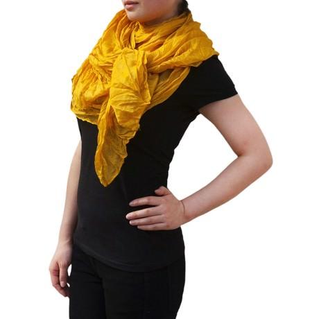 Tuch Schal Chiffon Stola Fashion Outfit Damen Tücher - gelb-bronze