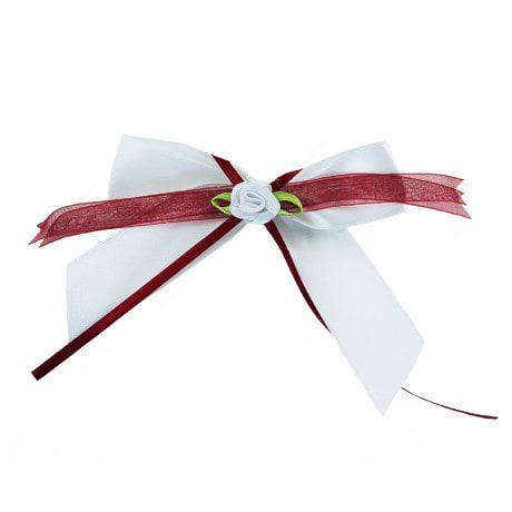 Antennenschleife Hochzeit Deko Schleife 12 cm - weinrot