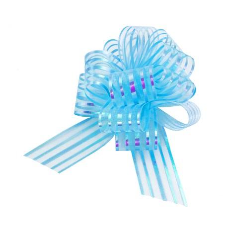 Geschenkschleife mit Geschenkband Groß Deko Schleife - hellblau