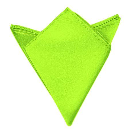 Einstecktuch Kavalierstuch Stecktuch Business Hochzeit - neon grün