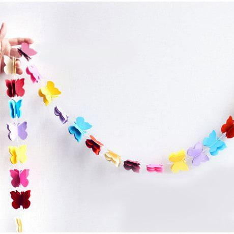Deckenhänger Girlande 3D Schmetterlinge Geburtstag Party Deko - bunt