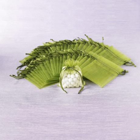 Organzasäckchen Organzabeutel Schmuckbeutel Säckchen Organza grün