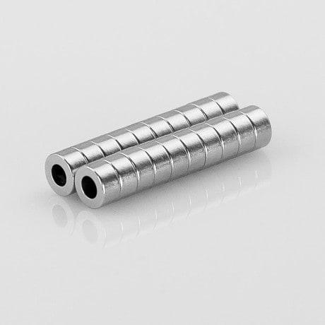 Neodym Magnet Extrem N45 ø 6 x 3 mm gelocht