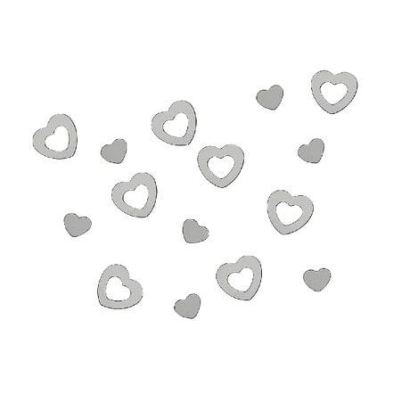 Herz Konfetti Tischdeko Liebe Romantik Hochzeitsdeko - silber