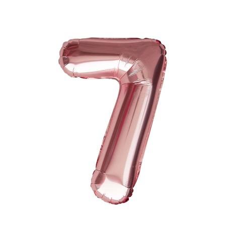 1x Folien Luftballon mit Zahl 7 Geburtstag Jubiläum Party Deko Ballon