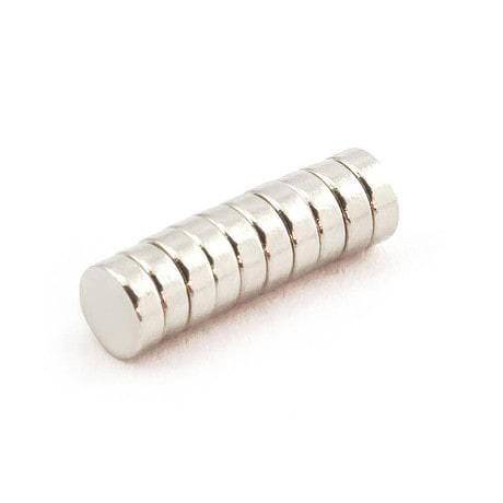 Neodym Magnet N38 ø 6 x 2 mm