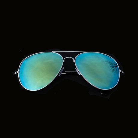 Pilotenbrille Sonnenbrille Herren Damen Flieger blue gold