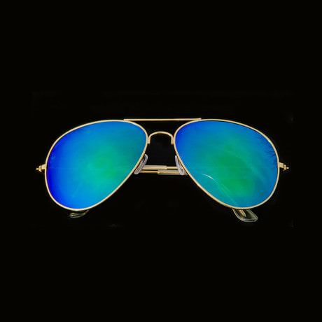Pilotenbrille Sonnenbrille Herren Damen Flieger blue-mint