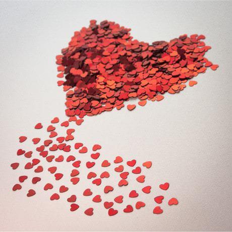Herz Konfetti Tischdeko Liebe Romantik Hochzeitsdeko 14g - rot