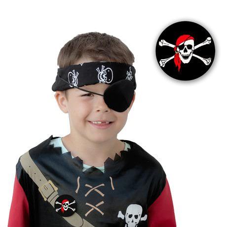 Button Piraten Totenkopf Anstecker - schwarz