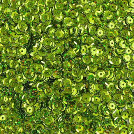 1400 Pailletten Konfetti gewölbt - grasgrün