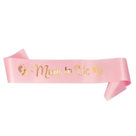 Schärpe Mum To Be Baby Shower Party Mädchen Schwangerschaft - rosa