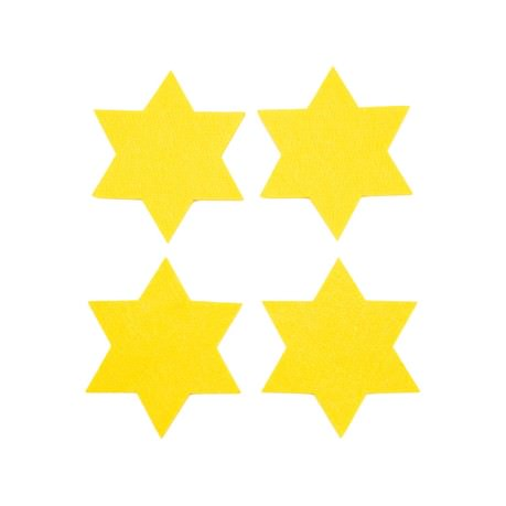 4 Filz Untersetzer Sterne Glasuntersetzer Weihnachtsdeko Adventsdeko - gelb