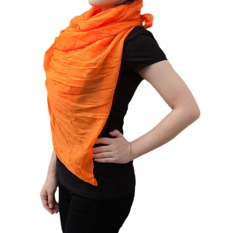Tuch Schal Chiffon Stola Fashion Outfit Damen Tücher - orange