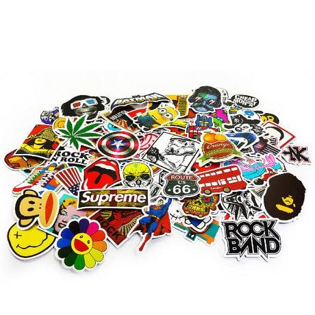 100 Vinyl Graffiti Sticker Aufkleber Set - Mix 1