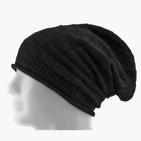 Long Beanie Mütze XXL Damen Herren Kinder Winter Mützen - black