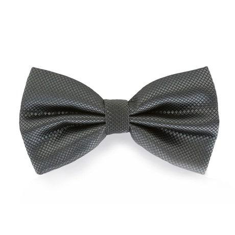 Fliege Schleife kariert Hochzeit Anzug Smoking - dunkelgrau