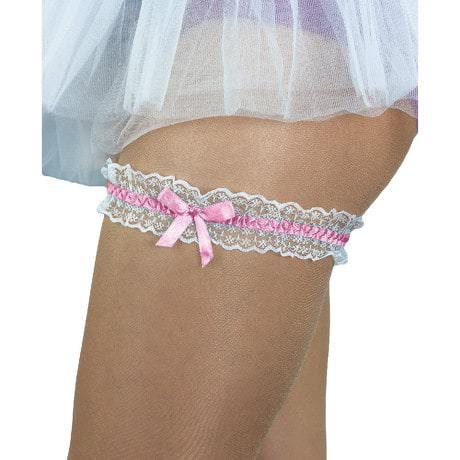 Strumpfband Hochzeit mit Schleife - rosa