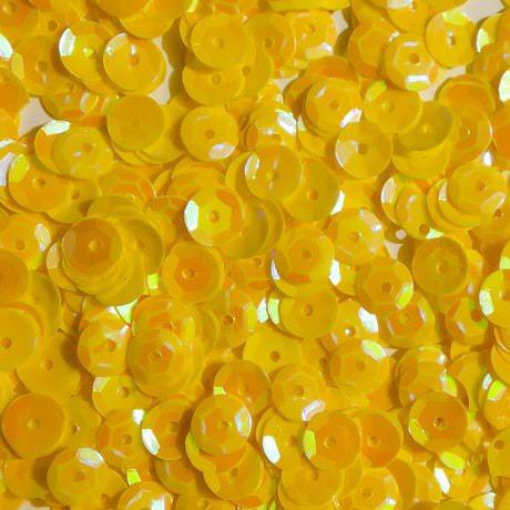 1400 Pailletten Konfetti gewölbt gelb