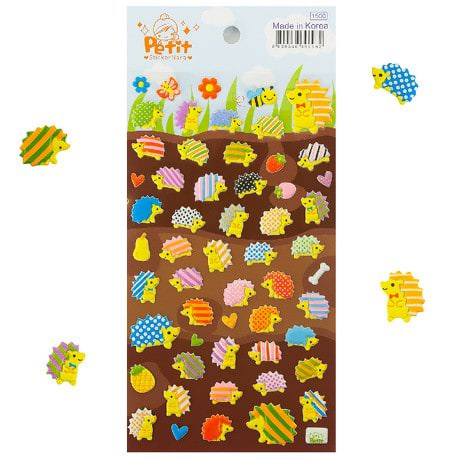 50 Igel 3D Sticker Aufkleber Set Deko Kinder