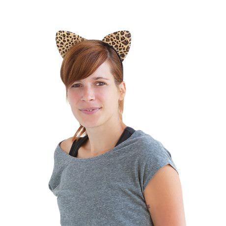 Haarreif Haarreifen Leopardenohren Kostüm Fasching Karneval