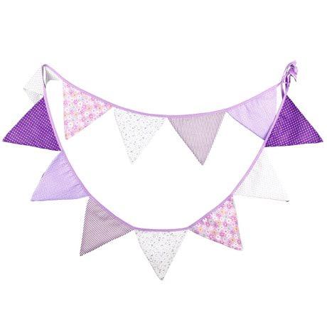 Wimpel Girlande Wimpelkette Banner Vintage - lila