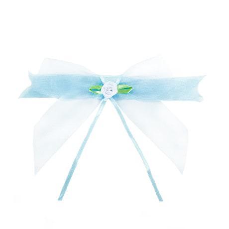 Antennenschleife Hochzeit Deko Schleife 12 cm - helltürkis