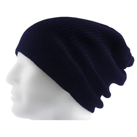 Long Beanie Mütze XXL Damen Herren Kinder Mützen Winter - dark blue