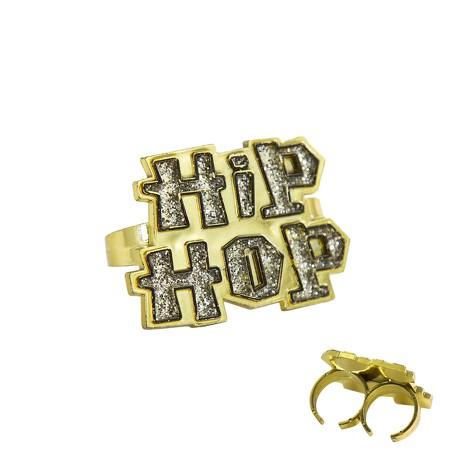 Hip-Hop Ring Schmuck für Hip Hopper Rapper Gangster Kostüm Fasching Karneval Party