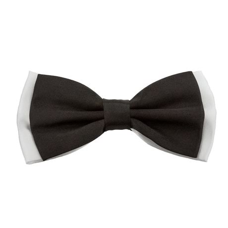 Fliege Schleife Hochzeit Anzug Smoking - weiß-schwarz