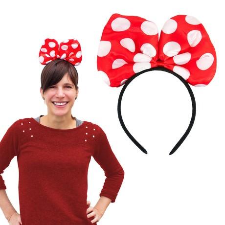 Haarreif Haarreifen große Schleife Fasching Karneval - rot