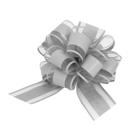 Geschenkschleife Deko Schleife für Geschenke Tüten Zuckertüte Weihnachten Geschenkdeko - grau