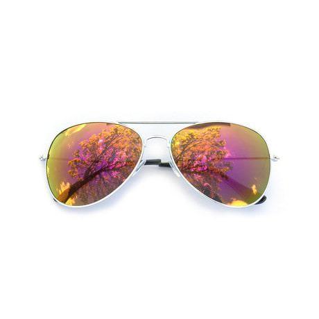 Pilotenbrille Sonnenbrille Herren Damen Flieger violett-gold