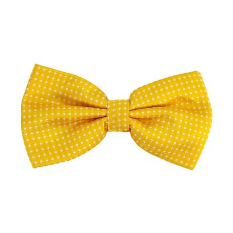 Fliege Schleife gepunktet Hochzeit Anzug Smoking - gelb