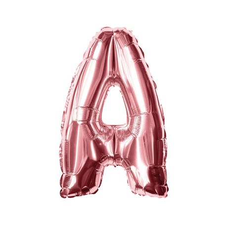 Folien Luftballon Buchstabe A Geburtstag JGA Hochzeit Party Deko Ballon - roségold