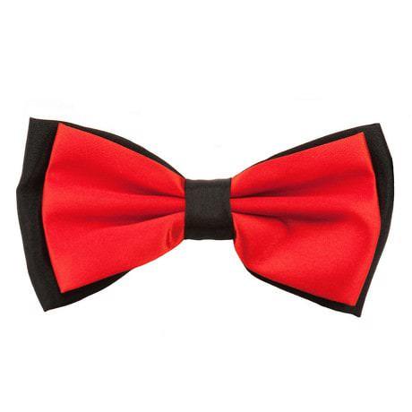 Fliege Schleife Hochzeit Anzug Smoking - schwarz-rot