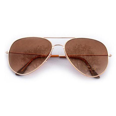 Pilotenbrille Sonnenbrille Herren Damen Flieger rosé gold